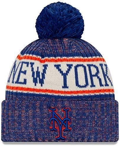 New York Mets 2019 Primary Logo Sport Hat Cuffed Spasm price Many popular brands with Pom Knit