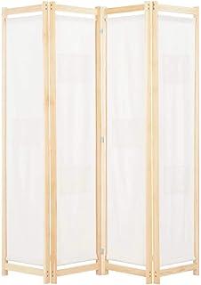 vidaXL Cloison de Séparation 4 Panneaux Séparateur de Pièce Paravent Pliable Brise-Vue Chambre à Coucher Maison Intérieur ...