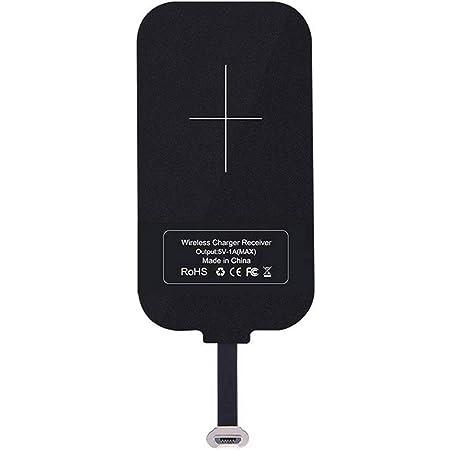 Nillkin スマホ対応ワイヤレス充電レシーバーシート Qiレシーバー アダプタ 置くだけ充電 Qi(チー) 規格 Android Micro USB端子対応 (A. Micro USB ポジティブ)