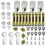 Colgadores de pared para fijar cuadros sin agujeros - Ganchos para colgar cuadros sin taladrar - Set de 43 Piezas y 20 tornillos