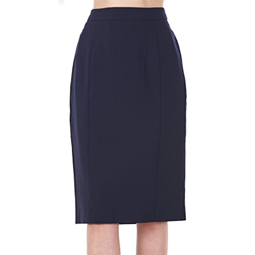 2c649de5b3 BHS Ladies Knee Length Navy Work Womens Office Lined Pencil Skirt