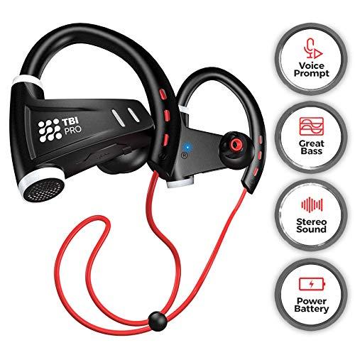 [Upgraded 2020] Sport Bluetooth Headphones w/12+ Hours Battery - Professional Wireless Sport Earphones w/Mic - IPX7 Waterproof Deep Bass Music in-Ear Earbuds for Gym Running Workout for Men, Women