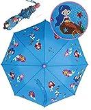 HECKBO® Magic Kinder Farbwechsel Regenschirm Meerjungfrau Mermaid - Wechselt die Farbe bei Regen - Taschenschirm für Jungen und Mädchen - Ranzen Schirm Sonnenschirm für Schulkinder Kindergartenkinden