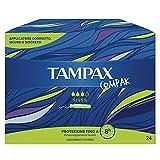 TAMPAX COMPACK SUPER, Confezione da 24 Tamponi