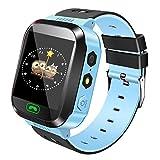 Smartwatch para niños, localización de GPRS + LBS, llamadas de voz y mensajes de voz, cámara de alta calidad, varios juegos de matemáticas, impermeable para uso diario