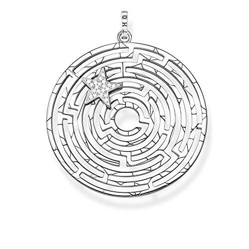Thomas Sabo Damen-Anhänger Labyrinth mit silbernen Stern 925 Sterlingsilber PE852-643-14