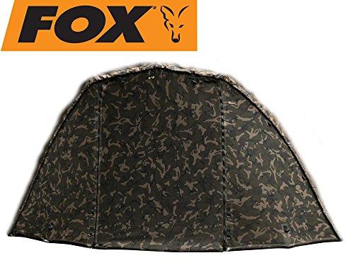Fox Ultra 60 Mozzy Screen Camo - Frontteil für Fox Ultra Brolly, Angelschirm Überwurf, Angelzelt Fronttür