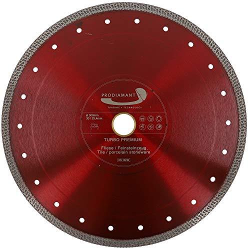 PRODIAMANT - Disco da taglio diamantato per piastrelle in gres porcellanato, 300 mm x 30 mm, con anello da 25,4 mm e 300 mm