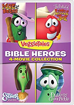 VeggieTales  Bible Heroes 4-Movie Collection  Moe and the Big Exit / The Ballad of Little Joe / Esther - The Girl Who Became Queen / Dave and the Giant Pickle  [DVD]