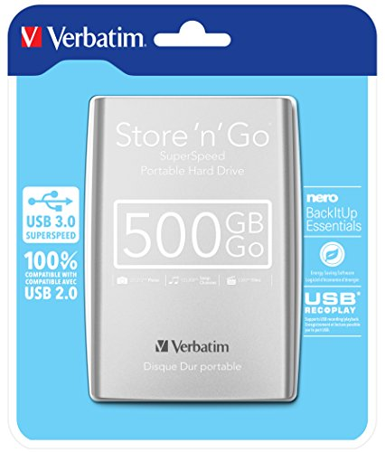 VERBATIM Discos Duros externos Blanco 500 GB 53021
