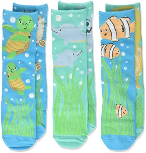 DEMDACO Under the Sea 18 36 Months Cotton Knee Socks Box Set of 3 product image