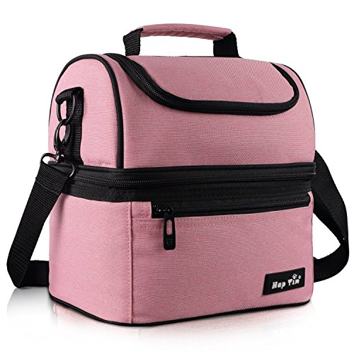 Hap Tim Sac Isotherme Repas Femme & Homme, Lunch Box Bag Isotherme Femme, Glaciere Souple Isotherme, 7.5L Sac Repas Pour Enfant Travail PiqueNique - Rose EU16040-PK