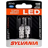 SYLVANIA ZEVO 194 T10 W5W Blue LED Bulb, (Contains 2 bulbs)