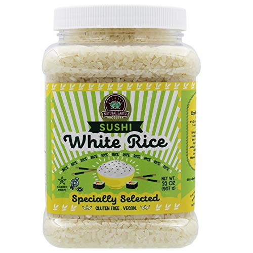 Natural Earth Products - White Sushi Rice - Kosher - 32Oz (2LB) (Single)