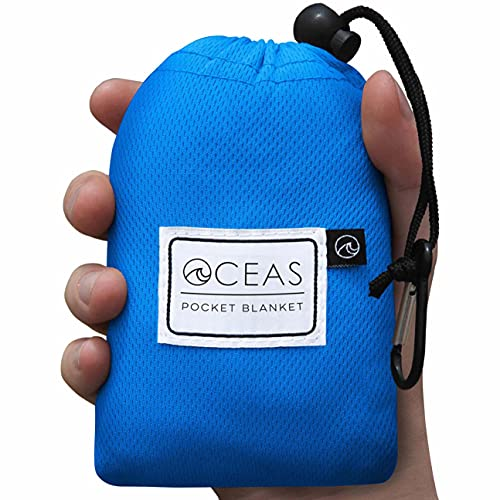 Oceas Outdoor Pocket Blanket - Ideal Sand Proof and Waterproof Picnic Blanket for Beach, Hiking, and Festival Use - Foldable and Compact Mat Easily Fits Into Small Portable Bag