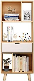 Strong Sturdy Nordic Bookshelf Floor-standing Bookcase Modern Living Room Storage Racks Office Shelves Study Room Bookcase...