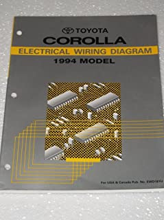 1994 Toyota Corolla Electrical Wiring Diagrams