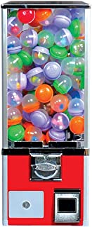 "Vending Machine - Toy Capsule Vending Machine Perfect for Acorn and Round 2 inch Capsules - 45 mm Bouncy Balls - Large 2"" Toys - Gift for Kids Bouncing Ball Vend Coin Vending Machine, Red"
