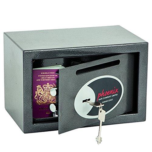 Phoenix SS0801KD Vela Deposit Home & Office Safe mit Schlüsselschloss (sehr klein)