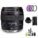 GYTE Bundle | Objetivo Canon - EF 85 mm f/1.8 USM - Teleobjetivo para Cámara Reflex Digital + Kit de Filtro + Parasol + Juego de Limpieza | Paquete de Accesorios Premium