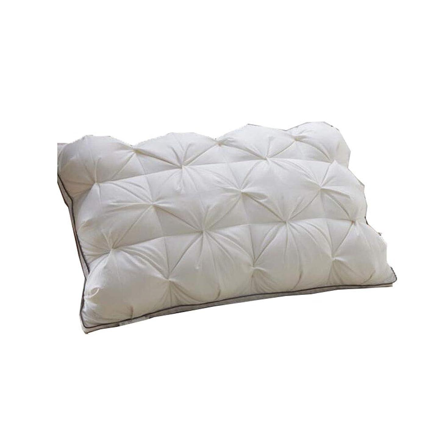 永続味方公然と枕-白いガチョウの羽毛綿ダウン枕ダウン枕コア大人のホテルに適した1個