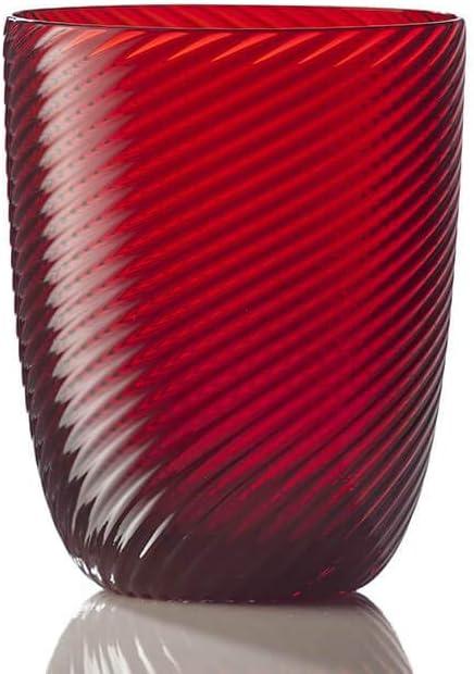 Nason Moretti Set 4 Max 57% OFF Idra Water red Glass Twisted Max 51% OFF Striped