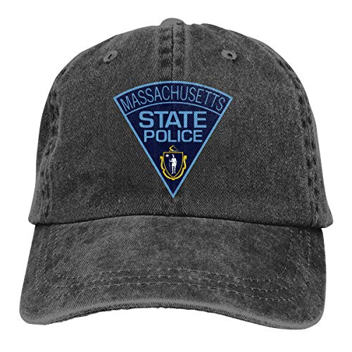 Lfgyuuserg Massachusetts State Police Fashion Cool Adult Adjustable Denim Cowboy Hat