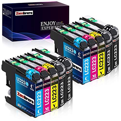 Zambrero LC223 Ersatz für Brother LC 223 Druckerpatronen Kompatibel für Brother MFC-J5320DW MFC-J480DW MFC-J4420DW DCP-J4120DW DCP-J562DW MFC-J4620DW J880DW J5620DW J4625DW J5625DW J680DW MFC-J5720DW