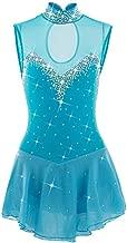 Hongsheng Figure Skating Dress Women's Girls' Ice Skating Dress Light Blue Spandex Athletic,8~9(150cm)