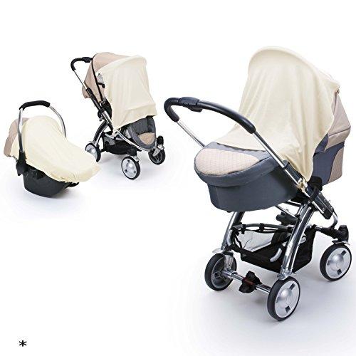 Sonnen- und Schlummertuch UV30+ für den Kinderwagen, Buggy Babyschale 80x60 cm aus Microfaser • Sonnentuch Segeltuch Sonnensegel Sonnenschutz Schattentuch Baby