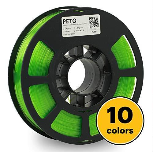 KODAK PETG Filament 1.75mm for 3D Printer, Translucent Green PETG, Dimensional Accuracy +/- 0.02mm, 750g Spool (1.7lbs), PETG Filament 1.75 Used as 3D Filament Consumables to Refill Most FDM Printers