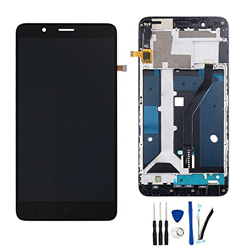 """LCD Display Screen Digitizer Touch Glass Assembly Replacement for ZTE Blade Z Max Z982 / ZMax Pro 2 / Sequoia 6.0"""" Black with Frame"""