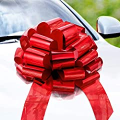 BIG GIFT? BIG BOW! - Make it extra-special with this eye-catching bright bow DEAL CLOSER - Draw attention in the showroom or on the lot; Great for cars, boats, large appliances NO MAGNETS - Your car bow will neither scratch nor dent your car or appli...