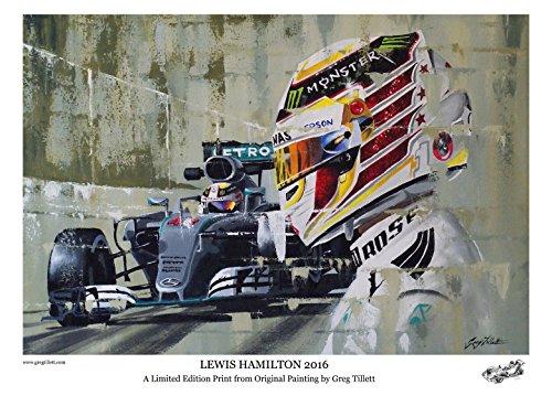 Kunstdruck/Poster: Lewis Hamilton 2016