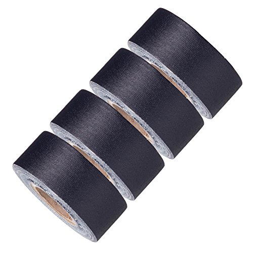 Mini Gaffer Tape Rolls by GafferPower 1 inch x 8yards - Pack of 4 Black, Made in The USA, Heavy Duty Gaffers Tape, Strong Tough Compact Lightweight, Multipurpose Better Than Duct Tape
