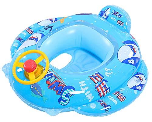 Lukis - Flotador de baño para bebé hinchable para bebé de 2 a 10 años (Requin)
