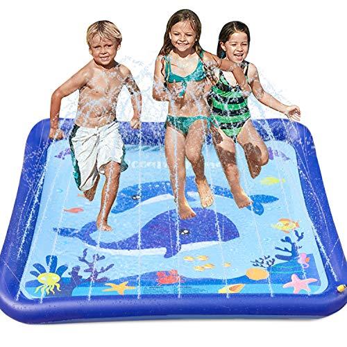 "GiftInTheBox Kids Sprinkler & Splash Play Mat 68"" Sprinkler for Kids Outdoor Water Toys Fun for Toddlers Boys Girls Children Outdoor Toy"