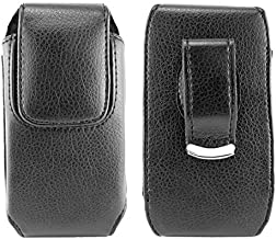 Vertical Executive Leather Case with Magnetic closure with swivel belt clip for Tracfone Samsung S380c. Comes with stylus pen.