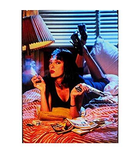 Kit de Bordado de Diamantes 5D Para Manualidades Diamantes Pulp Fiction Película Retro Hecha A Mano Decoración Del Hogar Punto de Cruz Completo Diamante Bordado Mosaico Imágenes11.8x15.8inch(30x40cm)