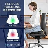 Bonmedico® Orthopädisches Sitzkissen mit innovativer Gel-Beschichtung, wirkt schmerzreduzierend, sorgt für gerade Körperhaltung und Steißbein-Entlastung, geeignet für Auto, Büro- & Rollstuhl sowie Reisen, in Schwarz oder Blau (Schwarz) - 5