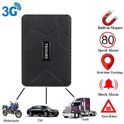 TKMARS 3G GPS Tracker para coche, moto, camión, localización de coche en tiempo real, GPS Locator con imán (TK915 3G)