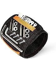 Senders Magnetische armband met 15 krachtige magneten verstelbare klittenband magneetarmband voor het vasthouden van gereedschap/schroeven/boren/spijkers, het beste cadeau voor mannen
