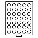 Leuchtturm 321661 MB Münzbox 31 mm Ø | Runde Fächer | Für 5 SFR., ½ $, 1 Rubel, 10 M (DDR) 5Sfr. (1931), US Half $ Kennedy, 25 OES, 3 MK| Rauchfarben