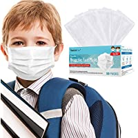 50-Pack TomrickCare Kids 3-Layer Face Mask with Nose Clip and Earloops