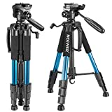 Neewer Portable 56 inches/142 Centimeters Aluminum Camera Tripod with 3-Way Swivel Pan Head,Carrying Bag for Canon Nikon Sony DSLR Camera,DV Video Camcorder Load up to 8.8 pounds/4 kilograms(Blue) canon camcorders May, 2021