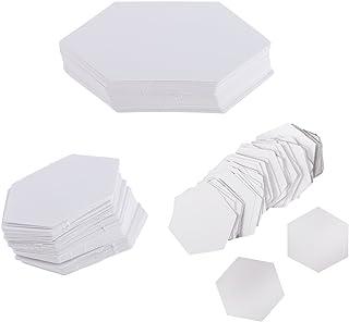 Sharplace 300 Piezas Plantillas Acolchar de Papel Hexagonal Accesorios de Bricolaje de Artesanías