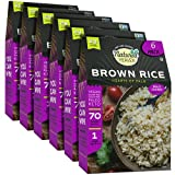 Natural Heaven Low Carb Rice | Hearts of Palm Brown Rice | 4g of Carbs, Keto, Paleo, Vegan, Plant Based (9 Ounces - 6 Count)