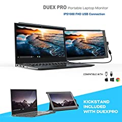 * Adjustable Portable Dual Screen *: Mobile Pixels invented this 12.5 inch 1920x1080P IPS monitor which offers rich and vivid colors from all viewing angles. Anti-glare Eye Care Brightness Adjustable second monitor attached to your laptop for easy tr...