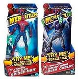 Marvel Heroes Spiderman vs The Green GOBLIN - Juego de figuras de regalo de 15,24 cm con acciones...