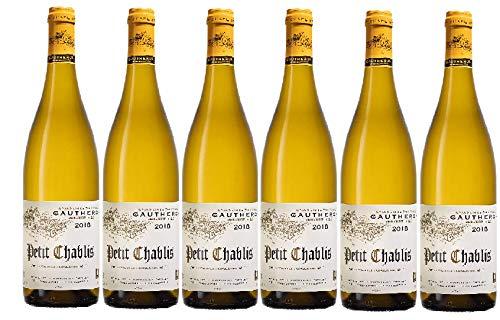 Vino blanco Petit chablis 2019 AOC - chardonnay seco - 6 botellas de 75cl